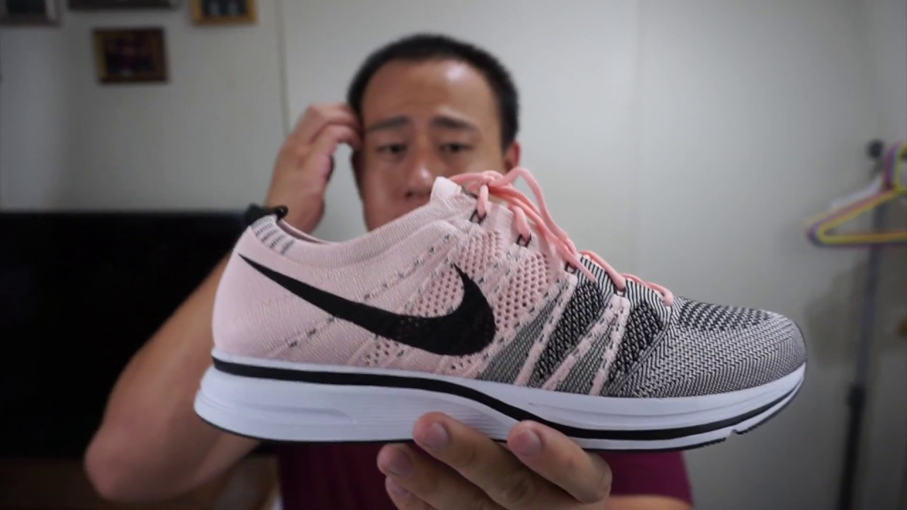 d9dbb2fc7f16 Nike Flyknit Trainer Sunset Tint With On Feet - YouTube