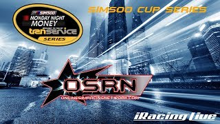 Sim500 Auto Club 180 presented by Transervice Nascar Cup Series live iracing online broadcast. thumbnail