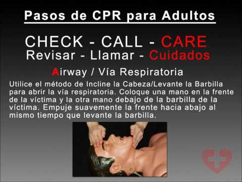 Adult CPR Spanish 2010 guidelines training video following New CABD method How to Video Espanol