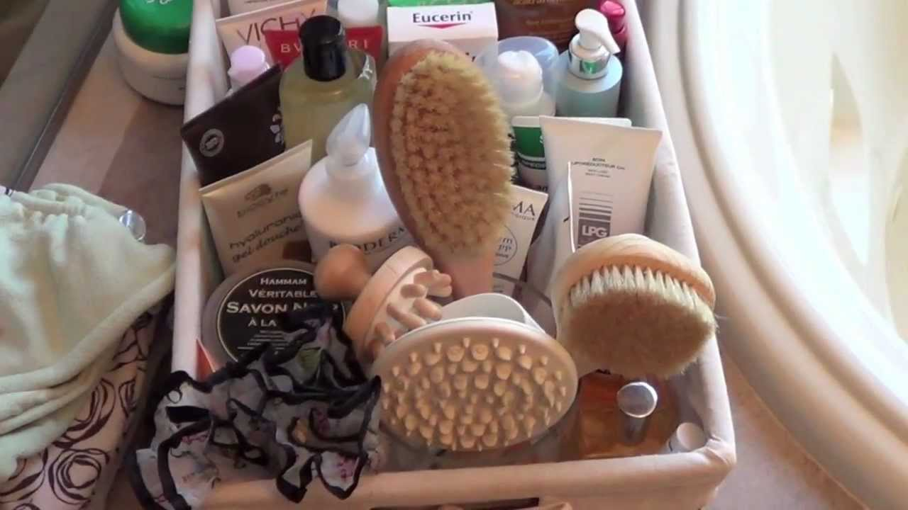 How I Organize My Bathroom Body Products Youtube