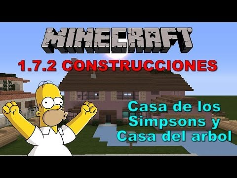 --MINECRAFT 1.7.2-- Casa de los SIMPSONS