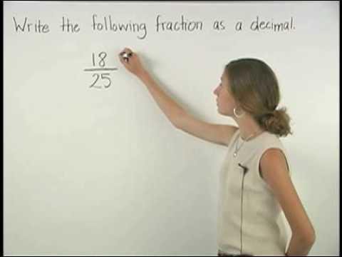 Fractions to Decimals - MathHelp.com - Math Help - YouTube