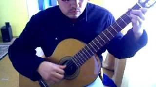 La Colegiala Calo con guitarra acustica clasica Jose Garcia