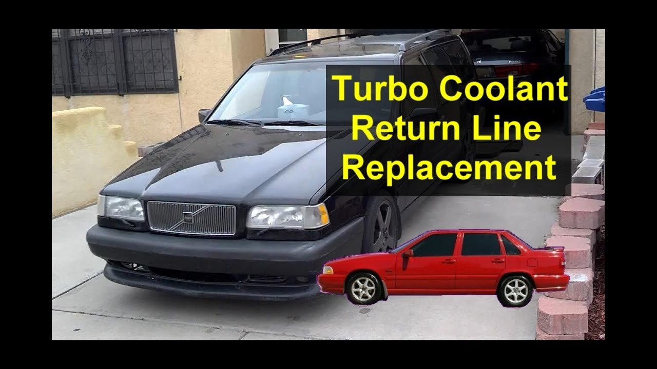 turbo coolant return hose replacement volvo 850 s70 v70 votd rh youtube com 1999 Volvo S80 2.9 Engine 1999 Volvo S70