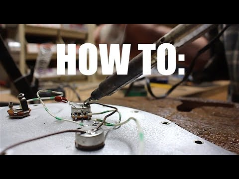 how to solder basic electric guitar wiring 101 by request youtube. Black Bedroom Furniture Sets. Home Design Ideas