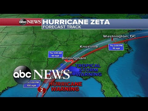 Hurricane Zeta racing toward Gulf Coast