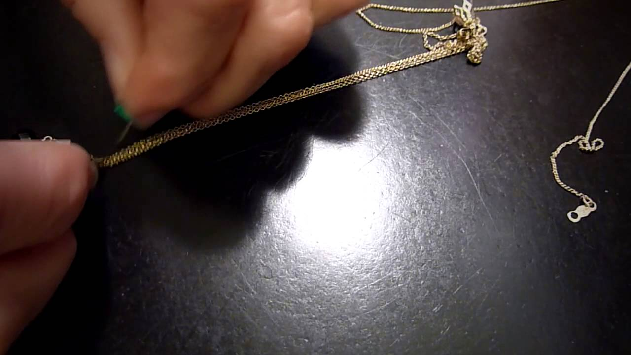 What is the way to untangle necklace chains?