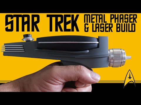 Star Trek TOS Phaser: Art Asylum Toy with Metal Parts & Real LASER!