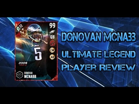 Madden NFL 17 Ultimate Team 99 Overall Donovan McNabb Player Review