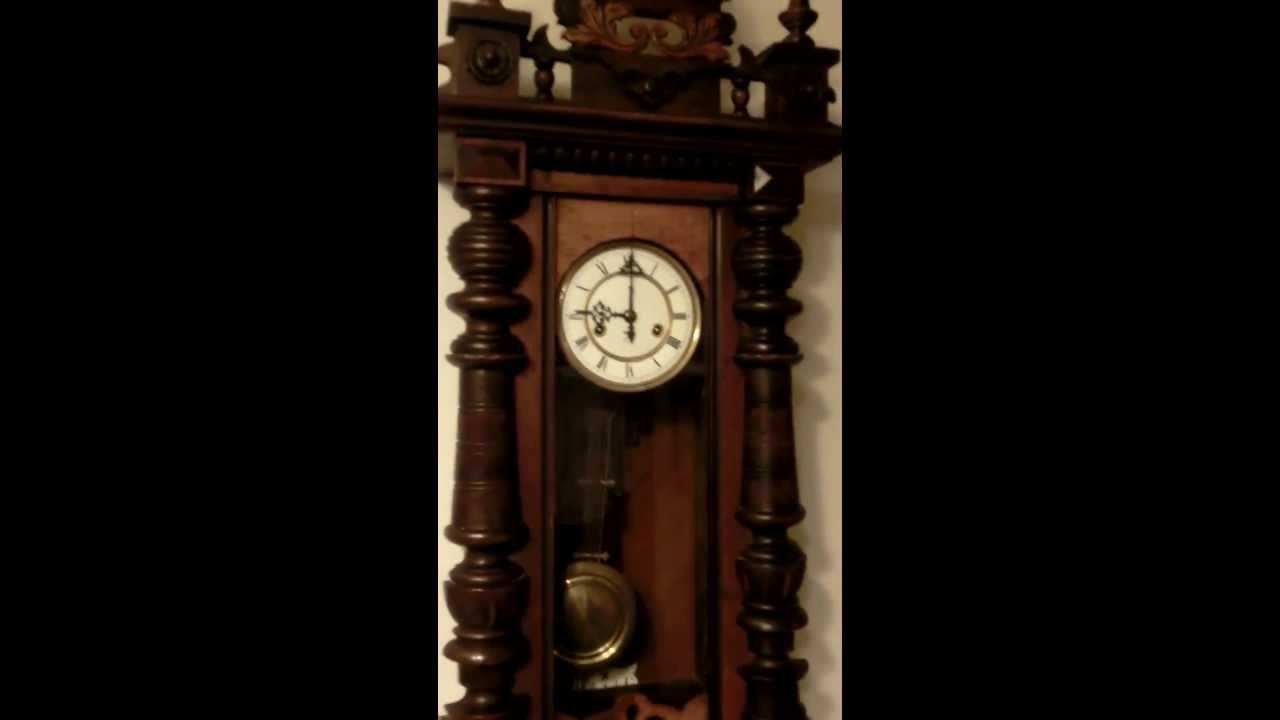 gustav becker sehr schoene riesige antike wanduhr regulator um 1910 youtube. Black Bedroom Furniture Sets. Home Design Ideas