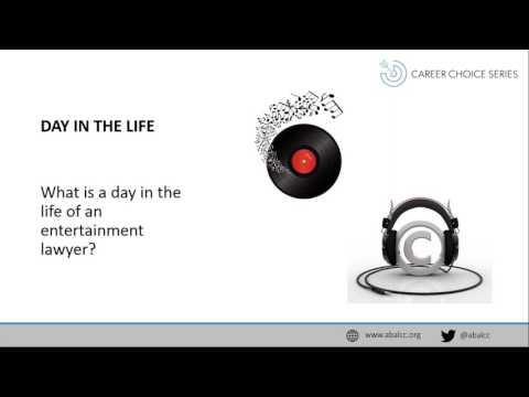 Career Choice Series: Entertainment Law