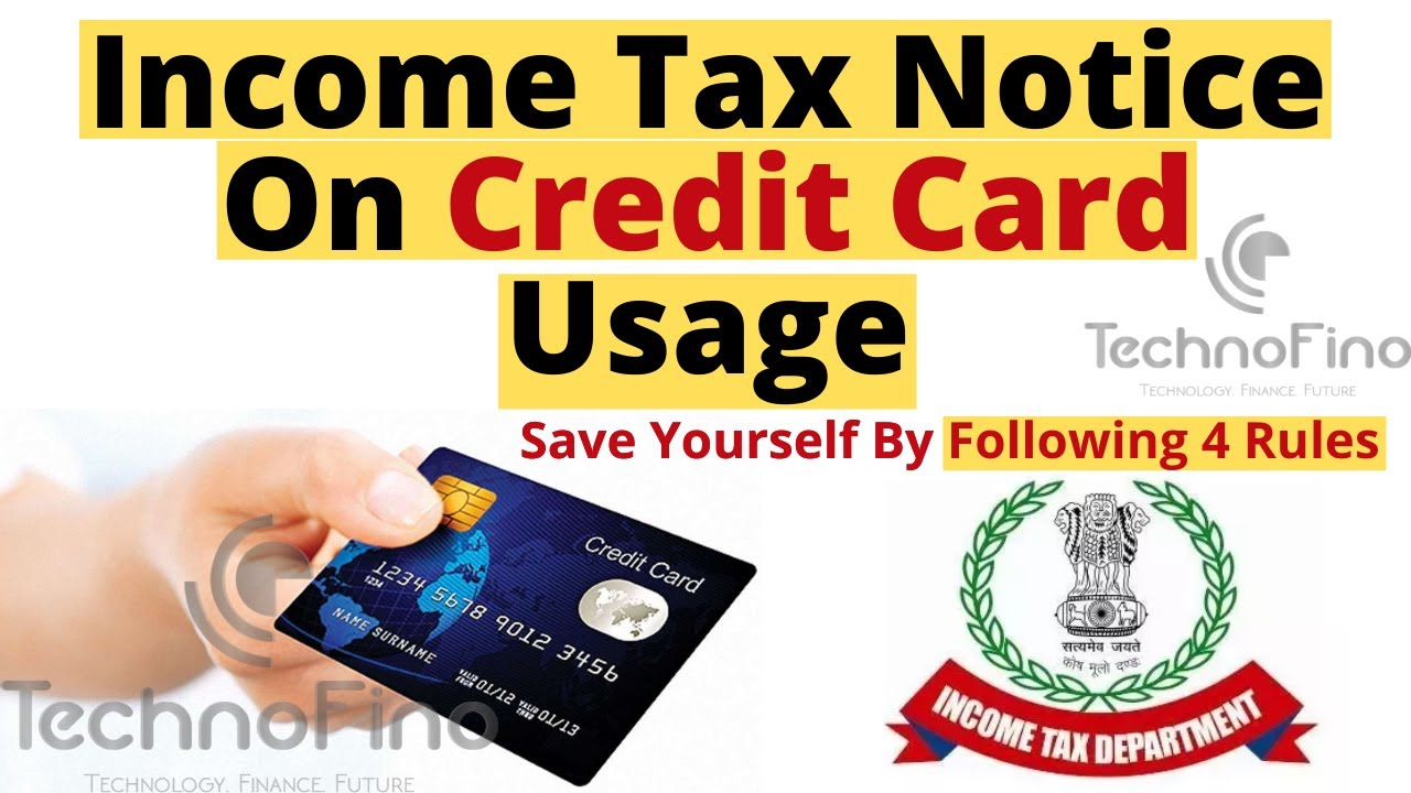 Income Tax On Credit Card How To Save Yourself From Income Tax Notice Youtube
