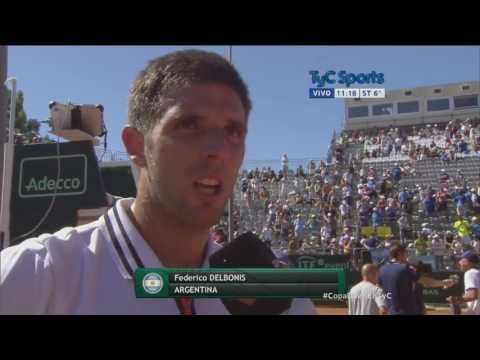 Delbonis superó a Fognini y Argentina ya está en semis