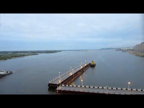 РЖД. Нижний Новгород. Вокзал. Мост через Волгу. 18-07-2012
