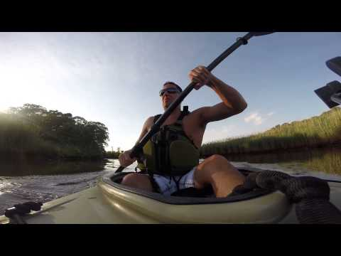 GOPRO Paddling in Kayak Ocean County Brick Township New Jersey Manasquan River