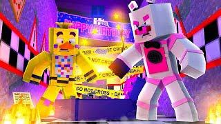 Destroying Chica's Party World! Minecraft FNAF Roleplay