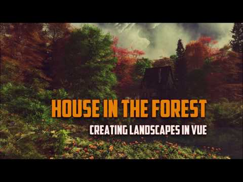 Landscapes in Vue. Creating house in the forest scene. Adding single instance plants part 3 thumbnail