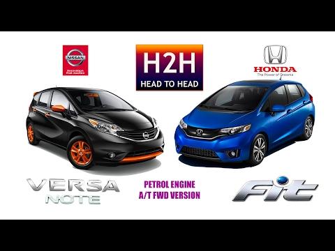 H2H 100 Nissan VERSA NOTE vs Honda FIT