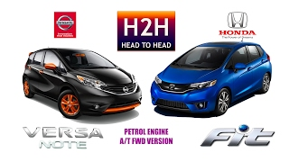 H2H #100 Nissan VERSA NOTE vs Honda FIT