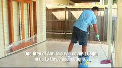 Anti Slip coating, the best way to make slippery floor tiles and covering safe. Easy to use.