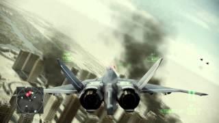 Ace Combat Assault Horizon CFA-44 Nosferatu Gameplay | Elite