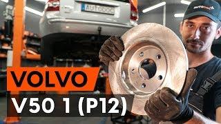 Kā nomainīt aizmugurējie bremžu diski VOLVO V50 1 (P12) [AUTODOC VIDEOPAMĀCĪBA]