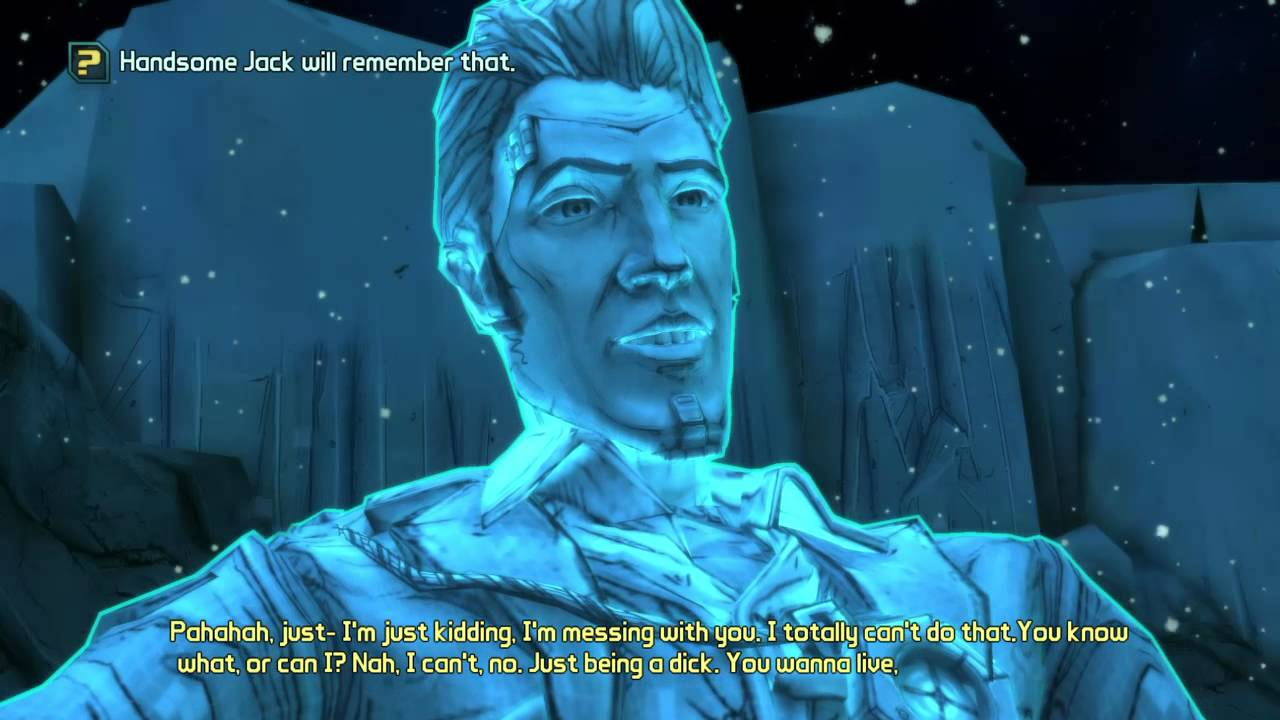 Tales From The Borderlands Handsome Jack Breaks Fourth Wall