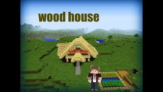 Minecraft Tutorial How To Make A Wooden House  £1