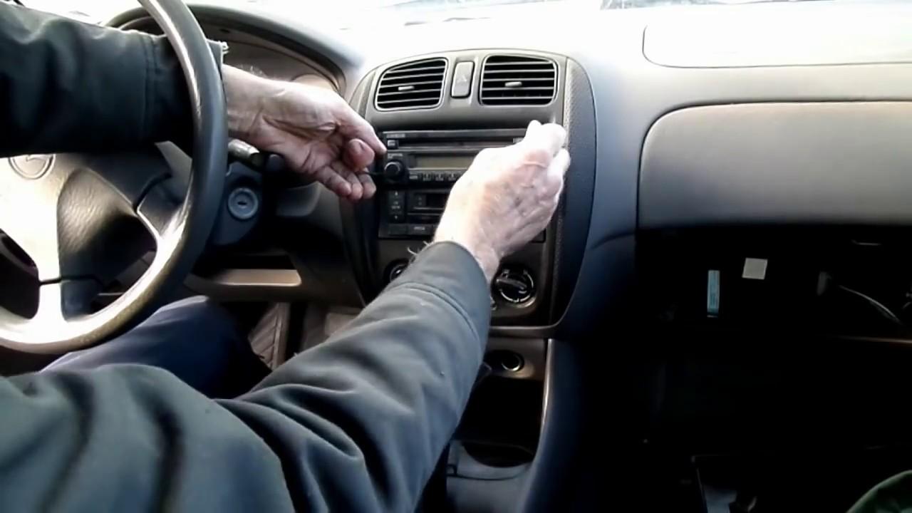 Mazda protege radio removal