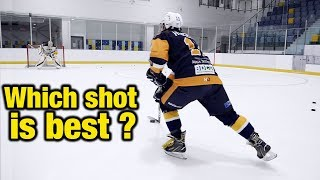 What is the best shot to use in hockey and why - Slap, Snap, wrist, backhand or onetimer?