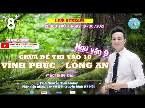 Live: Chữa đề Ngữ văn 9 thi vào 10 tỉnh Vĩnh Phúc và Long An