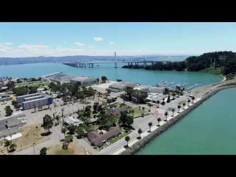 Drone over Treasure Island San Francisco Bay