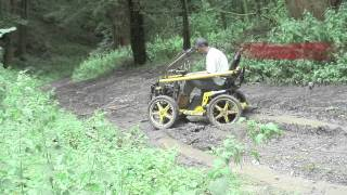 Terrain Hopper: All Terrain Wheelchair, Off Road Mobility Scooter vs Mud  [Overlander 4 vs Mud]