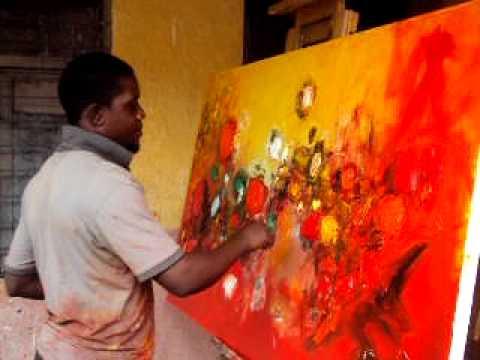 Henri Kalama Akulez painting 2.1.2010.AVI