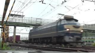 貨物列車 66レ EF66-27 2019/07/14 花月園前踏切