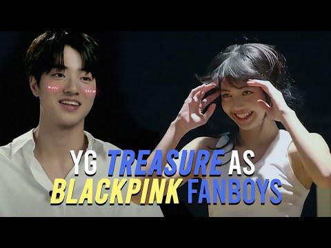 treasure as blackpink fanboys