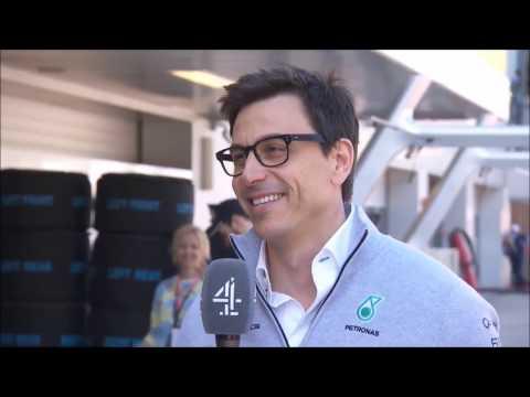 Eddie Jordan taunts Toto Wolff during Russian GP Weekend 2017