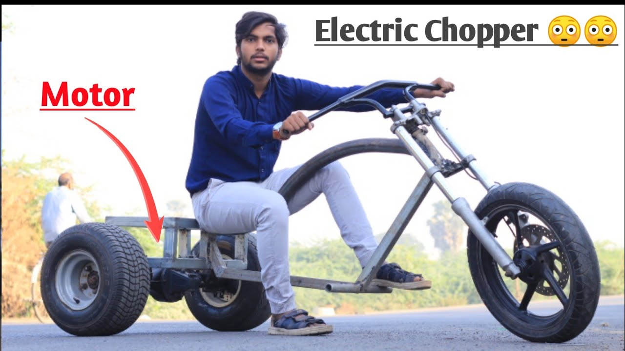 How to Make Electric Three Wheel Chopper Trike || Creative Science