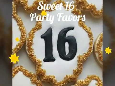 How to decorate sweet 16 party favors.