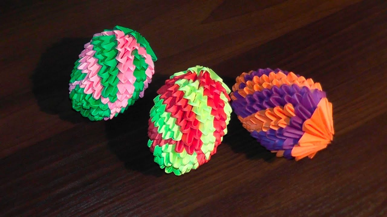 3d origami easter egg v2 master class tutorial youtube
