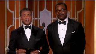 Sylvester Stallone And Carl Weathers Rocky And Apollo The Golden Globes 2017