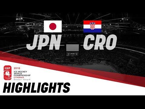 Japan - Croatia | Highlights | 2018 IIHF World Championships Division I Group B