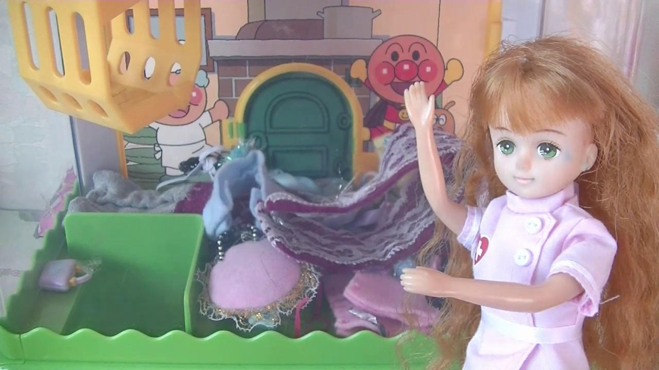 アンパンマンのクレーンゲームでりかちゃんがチャレンジ! おもちゃアニメ Kids Toys TV