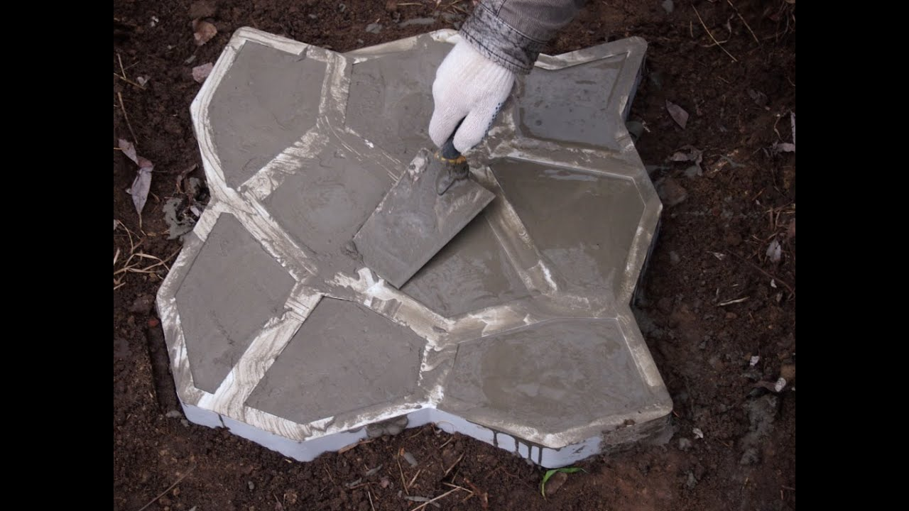 Купить формы для изготовления тротуарной плитки в Москве - YouTube