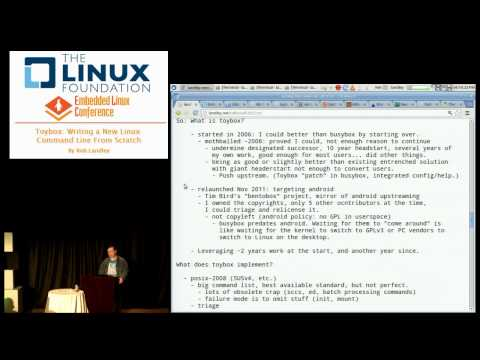 Embedded Linux Conference 2013 - Toybox: Writing a New Command Line From Scratch