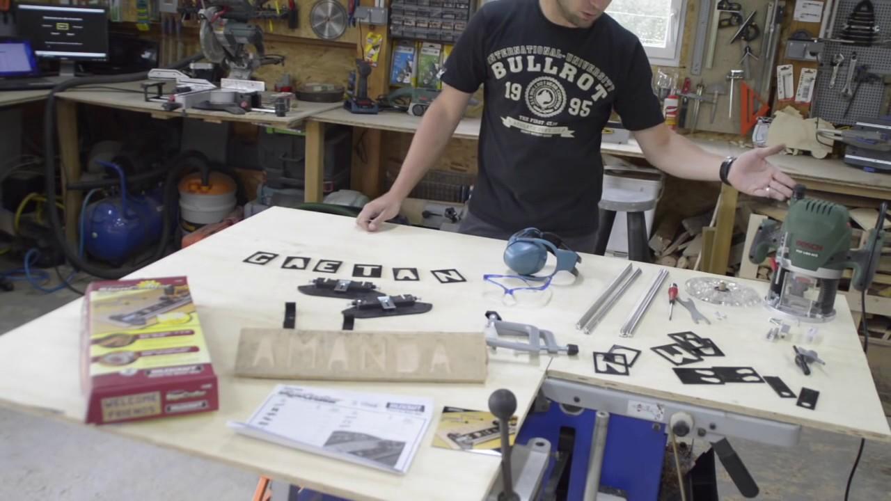 Ecrire Sur Panneau Bois ecrire des lettres avec une défonceuse - kit de gravure milescraft