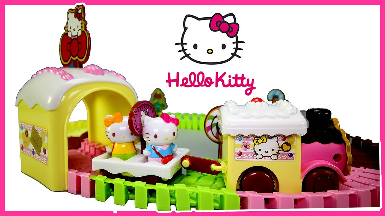 Hello Kitty Toys For Cakes : Hello kitty cake train sweet candy town toy set for