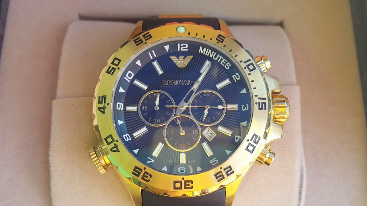 f77c382111b Armani Jorginho Dourado - Relógios BSB - YouTube