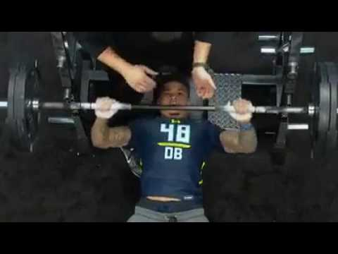 """Teez Tabor Does Only 9 Reps On Bench Press After Calling Himself """"The Best Player in The Draft"""""""