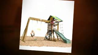 www.woodswingsetplans.com The Best Selection of Wood Swing Sets on the Market! Wood Swing Set Plans -- The Best ...